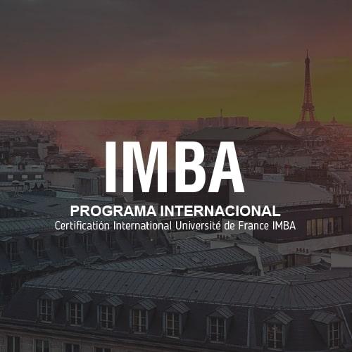 IMBA Programa Internacional Université de France