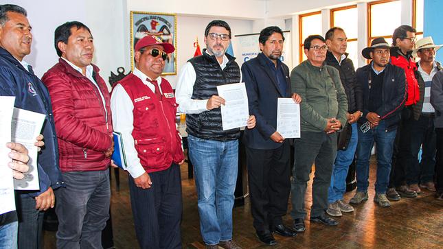 Arequipa: Instalan Comité de Desarrollo para la provincia de Caylloma